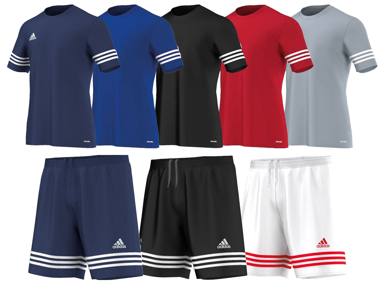 New Mens Adidas Entrada 14 Climalite T Shirt   Football Gym Training
