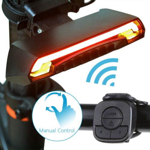 Wiederaufladbare LED Fahrradlampe Rücklicht Fahrrad Beleuchtung Fernbedienung