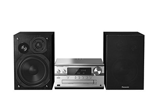 Panasonic SC-PMX74EG-S Micro HiFi System (120 Watt RMS, CD, Radio UKW/DAB+, Bluetooth, NFC) silber