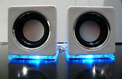 Design USB Lautsprecher Boxen für Laptop PC TV Mp3 player handys in Weiß (DW)