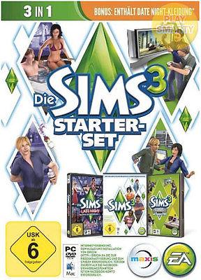 Die Sims 3 Starter Pack Vollversion + 3 DLCs EA Origin PC CD Key Download Code