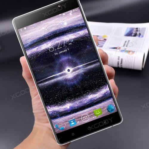 XGODY 6.0 Zoll 4Core+2SIM 3G 1+8GB GPS Handy Smartphone Ohne Vertrag Android5.1