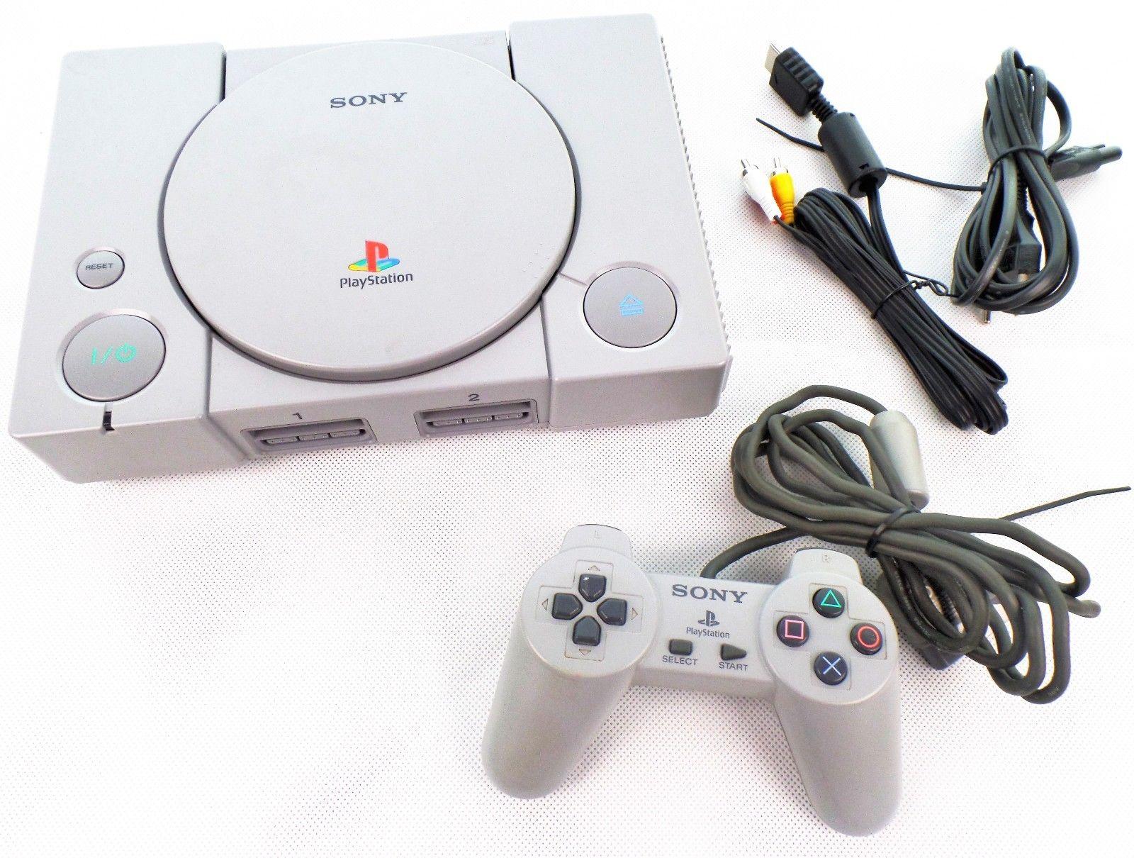 Playstation 1 Konsole + original Controller + alle Kabel + 1 Spiel / PS1