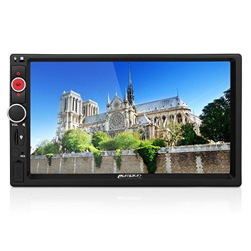 PUMPKIN 7 Zoll 5.1 Android Autoradio mit 2 GB RAM, 1024x600 Bildschirmauflösung, unterstützt 1080P HD Video, MirrorLink, Rückfahrkamera, Bluetooth, Subwoofer, Aux, WiFi, 3G, OBD2, DVR