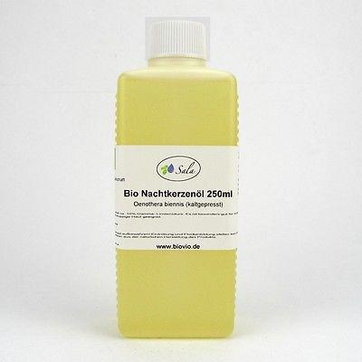 (5,00/100ml) Bio Nachtkerzenöl Nachtkerze Öl kaltgepresst kbA 250 ml
