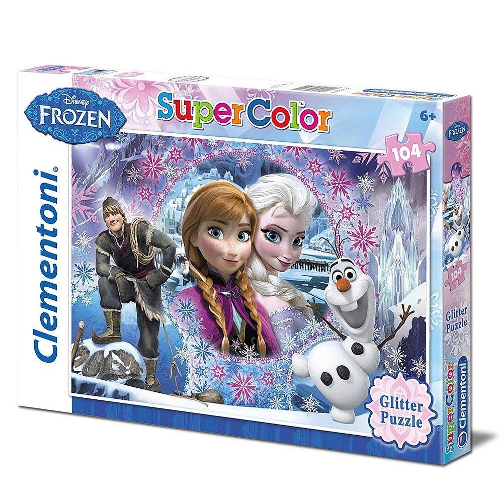 Disney Eiskönigin Frozen - Kinder Glitter Puzzle 104 Teile