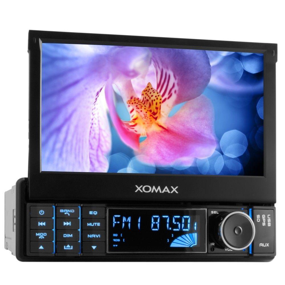 AUTORADIO MIT GPS NAVIGATION NAVI BLUETOOTH TOUCHSCREEN USB+SD=64GB SINGLE 1DIN