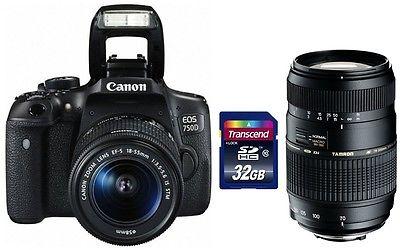 Canon EOS 750D + 18-55 IS STM + Zubehörpaket: 70-300 + 32GB + Cashback ! 750 D