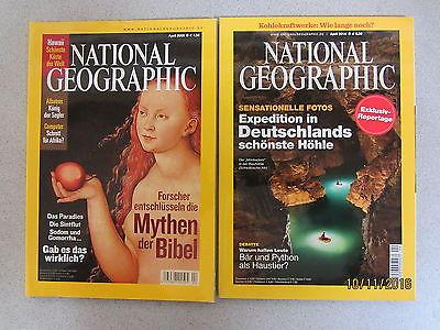 59 Hefte National Geographic aus den 1990er -2014er Jahren