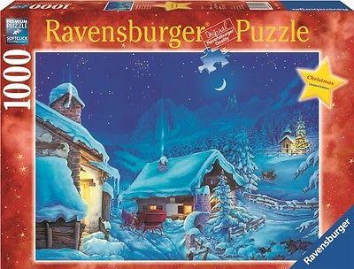 RAVENSBURGER CHRISTMAS PUZZLE*1000 T*WINTERWUNDERLAND*WEIHNACHTEN*RARITÄT*OVP