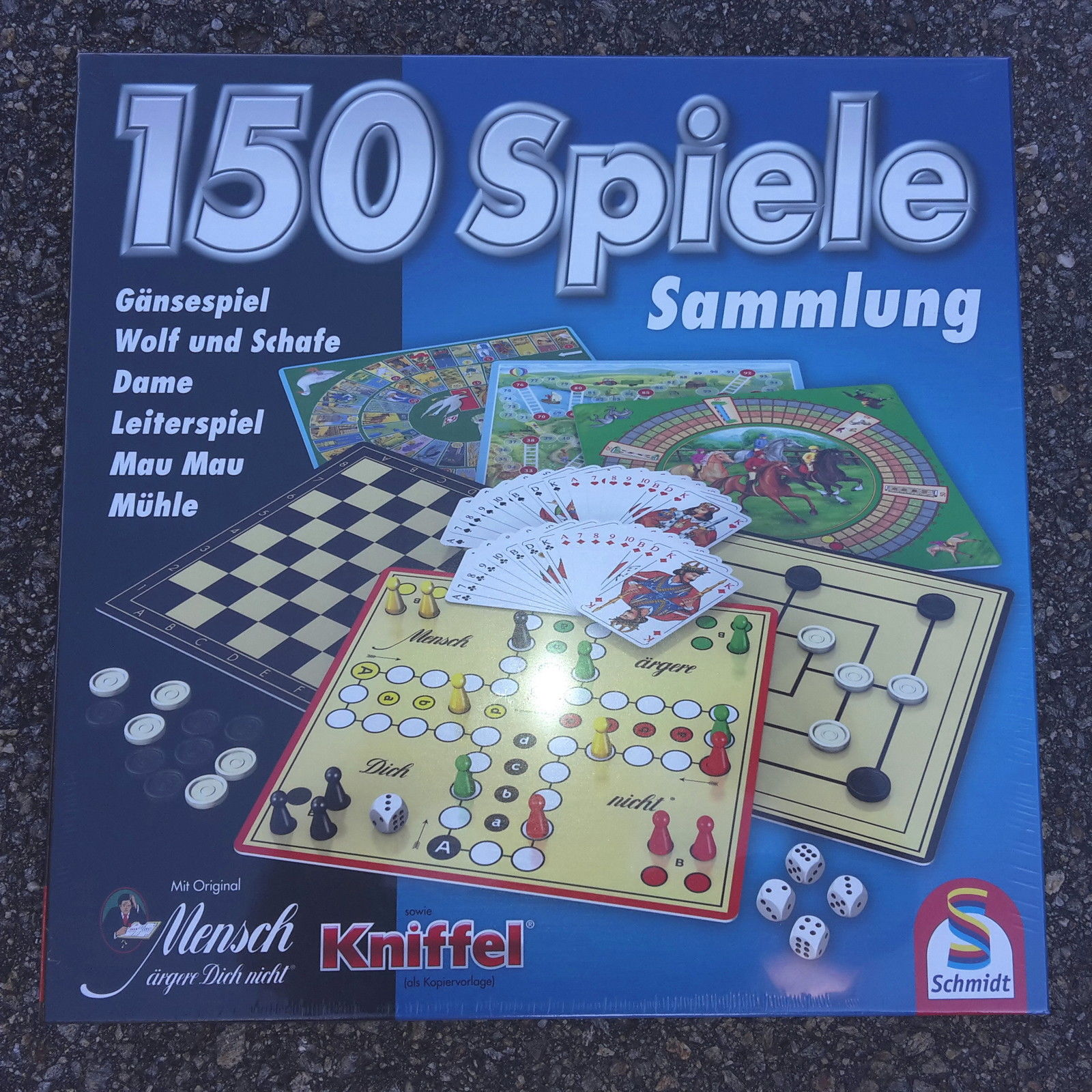 Spielesammlung 150 Spiele von Schmidt - Mühle - Dame Mensch ärgere Dich nicht