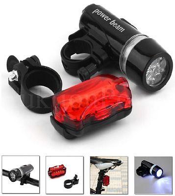 5 LED Fahrradleuchte Fahrradlicht Set Fahrradbeleuchtung Fahrradlampe TOP *NEU*