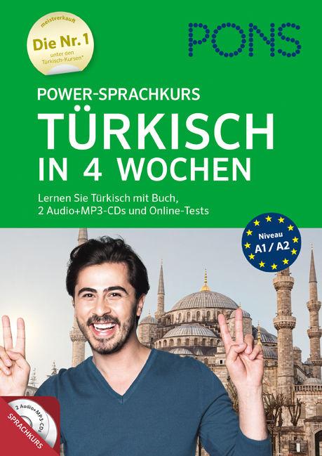 NEU: Power-Sprachkurs TÜRKISCH LERNEN IN 4 WOCHEN für Anfänger Buch + CDs PONS