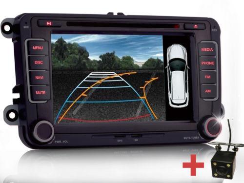 Rückfahrkamera Autoradio DVD NAVI Für VW GOLF 5 PASSAT TOURAN Sharan POLO Caddy