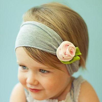 Baby Mädchen Schleife Ruffle Haarband Stirnband Kopfband Haarschmuck Rose 9008