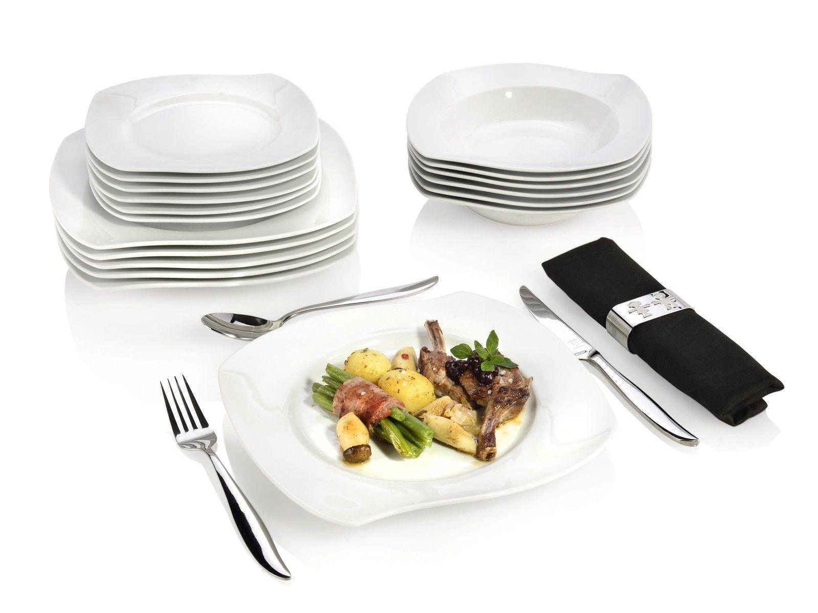 Tafelservice Porzellan Teller Set 18tlg Teller- Geschirr- Ess- Service