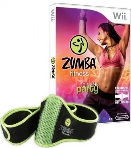 Nintendo Wii Spiel - Zumba Fitness 1: Join the Party + Hüftgürtel (mit OVP)