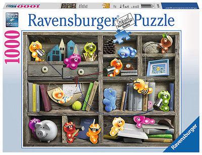 Gelini im Bücherregal 1000 Teile Puzzle Ravensburger 19483 NEU+OVP