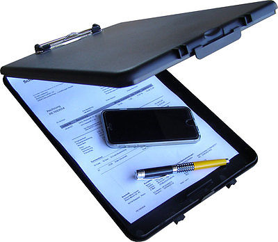 Klemmbrett Klemmplatte Mappe mit Aufbewahrungsbox Clipboard Schreibunterlage