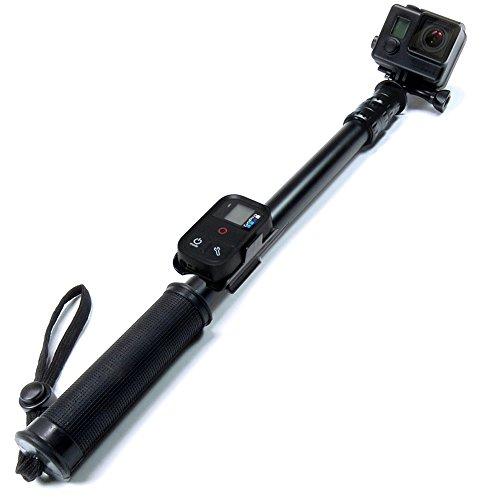 sandmarc-Schwarz Edition: 42-103cm Länge Aluminium Wasserdicht Verlängerungsstange (Selfie Stick) für GoPro Hero 4, Session, schwarz, silber, Hero + LCD, 3+, 3, 2, HD und 1/10,2cm Standard Kameras (Camcoder)-lebenslange Garantie