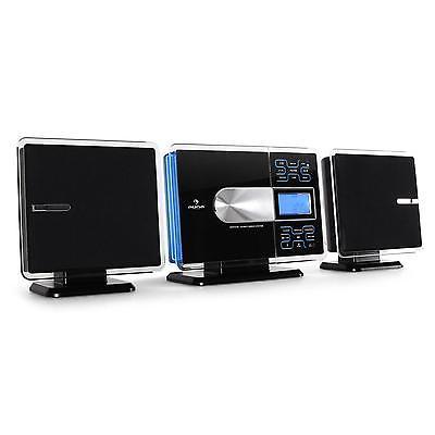 VERTIKAL MINI STEREO ANLAGE WAND HIFI SYSTEM MP3 CD PLAYER RADIO USB SD AUX IN