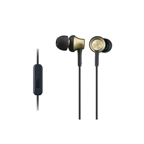 Sony MDR-EX650APT In-Ear-Kopfhörer (Messinggehäuse, Headset, Mikrofon, Fernbedienung) gold