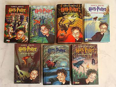 HARRY POTTER Band Teil 1-7 SET alle Bände komplett gebunden Büchersammlung Buch