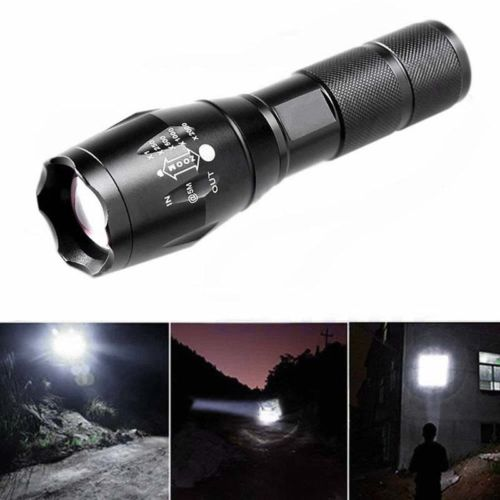 1 stk 6000 Lumens XML T6 LED Energie Taschenlampe Taschenlampen 18650 Schwarz