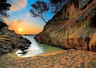 Puzzle Pappe Trefl 2000 Teile Landschaft Strand Costa Brava Spanien - NEU 27048