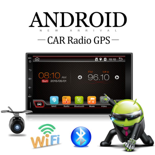 "7"" Android 4.4 Doppel 2Din Autoradio GPS NAVI READY WIFI 3G BT RDS USB+GPS Map"