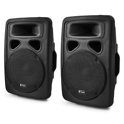 2 DJ PA AKTIV ABS MONITOR LAUTSPRECHER BOXEN SET 1000W