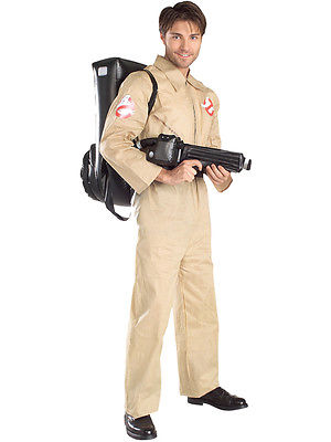 Ghostbusters Fancy Dress Adult Mens Ghostbuster 1980s Halloween Costume STD