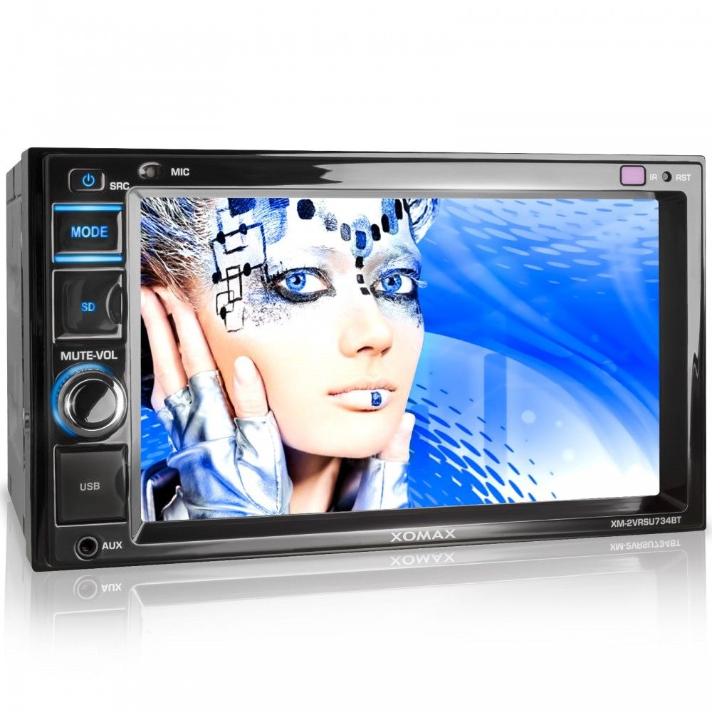 AUTORADIO MIT 16cm TOUCHSCREEN VIDEO BILDSCHIRM BLUETOOTH USB SD MP3 DOPPEL 2DIN