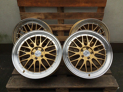 19 Zoll LM Felgen 5x112 et45 Gold poliert Gutachten GTI R S-Line RS TT Le Mans