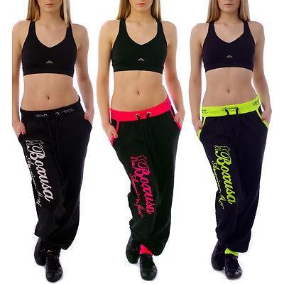Neon Damen Sporthose Laufhose Trainingshose Jogginghose Stoffhose Fitnesshose L3
