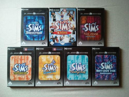 Die Sims 1 Hauptspiel für PC plus alle Erweiterungen