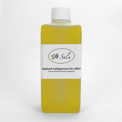 (5,32/100ml) Sala Bio Jojobaöl kaltgepresst gelb Jojoba Öl kbA 250 ml