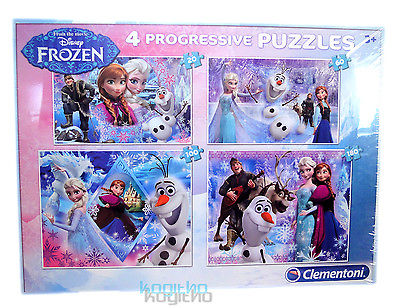 NEUOVP Disney Frozen Eiskönigin 4 Puzzle Clementoni Elsa 20/60/100/180 Teile