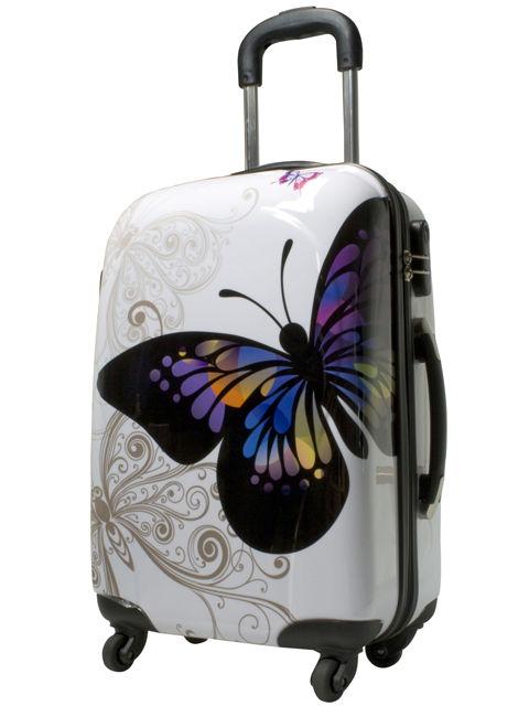 Koffer Reisekoffer Hartschalenkoffer Trolley Designer Kofferset Set 3 Butterfly