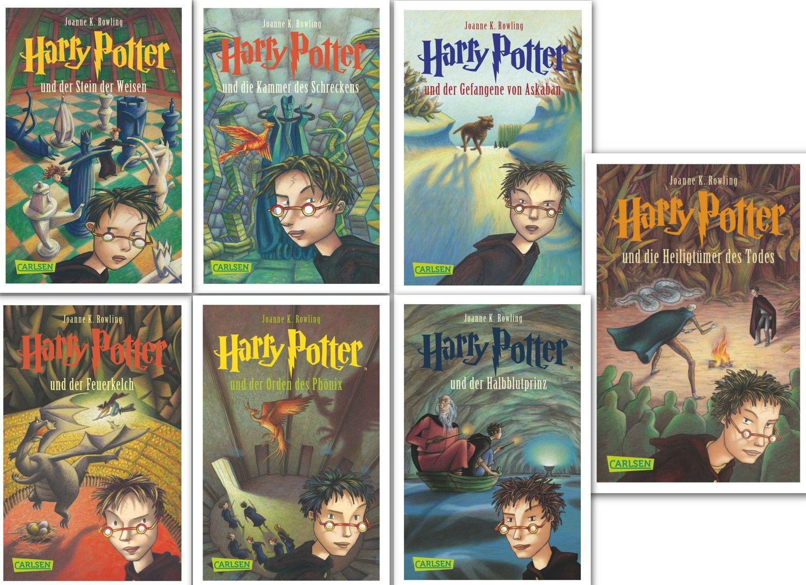 Harry Potter Band 1,2,3,4,5,6,7 komplett, Gesamtausgabe von Joanne K. Rowling