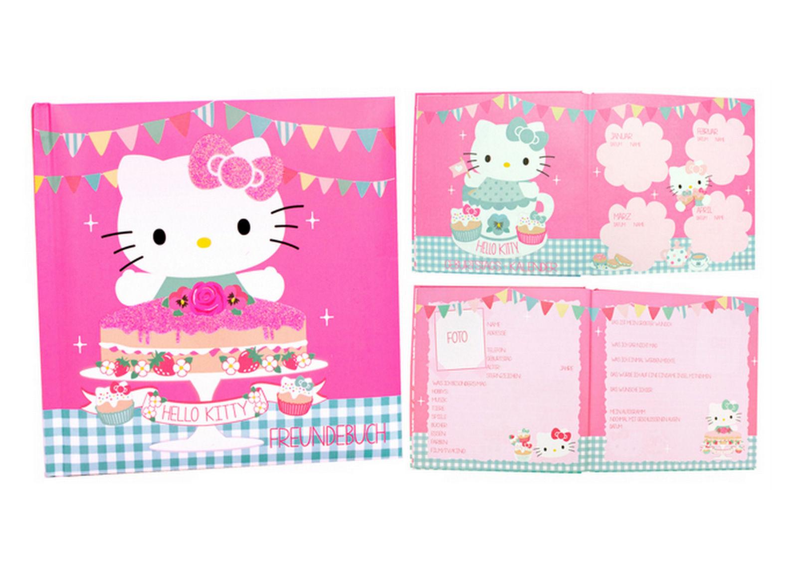 Hello Kitty Freundebuch Kindergarten Poesiealbum Geschenke für Kinder