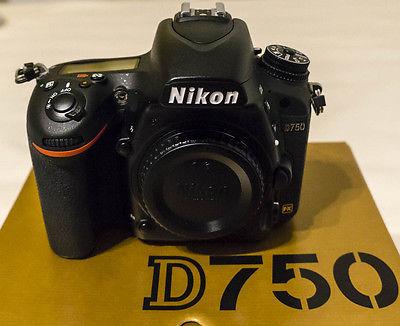 Nikon D D750 24.3MP Digitalkamera - Schwarz (Nur Gehäuse) mit Restgarantie
