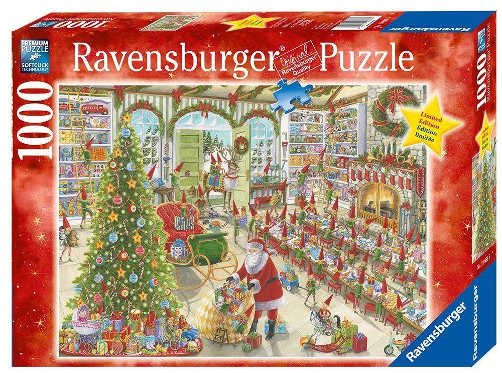 RAVENSBURGER CHRISTMAS PUZZLE*1000 TEILE*WEIHNACHTEN*SANTA'S READY*RARITÄT
