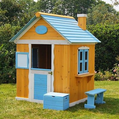 Kinderspielhaus Gartenhaus Spielhaus für Kinder aus Holz, Kinderhaus