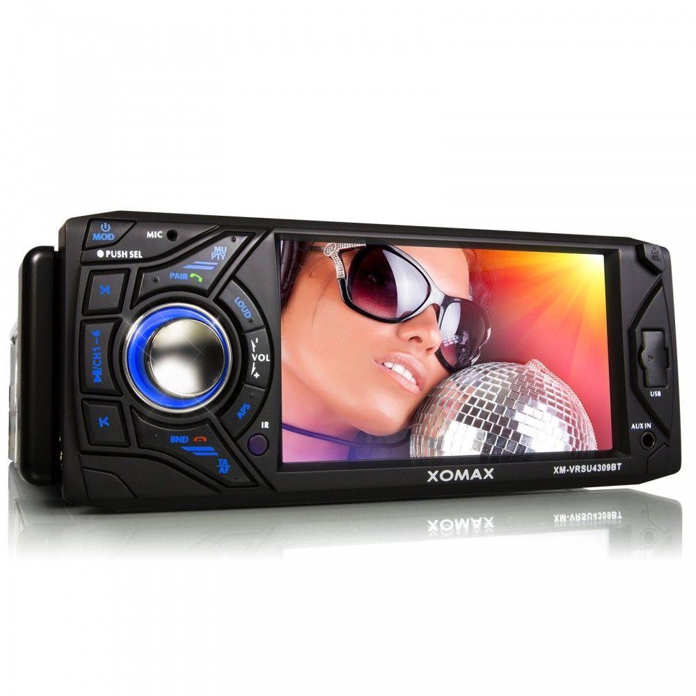 XOMAX XM-VRSU4309BT AUTORADIO BLUETOOTH TOUCHSCREEN USB SD MP3 1DIN ohne CD/DVD