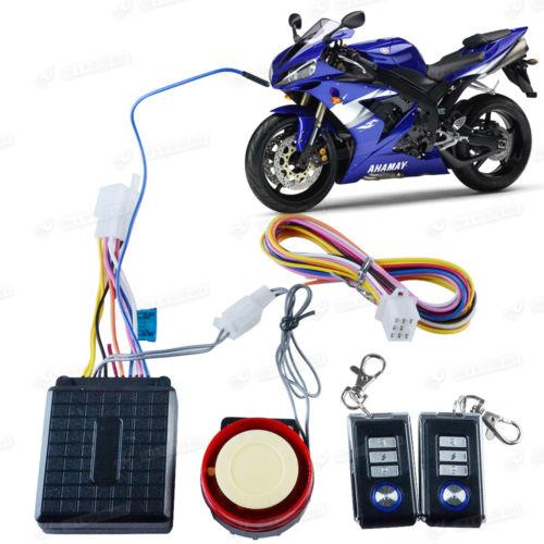 Motorrad Roller Alarmanlage Motorstart Alarm Sirene m. Fernbedienung NEU