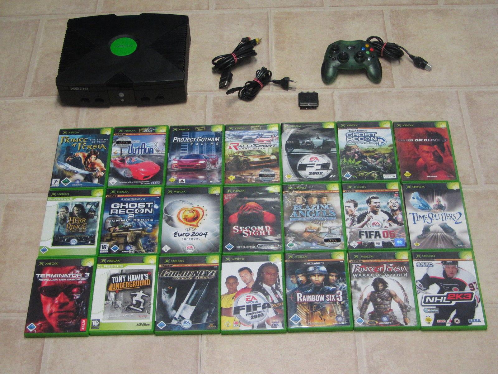 Xbox Konsole komplett mit 5 Gratis Spiele + Controller