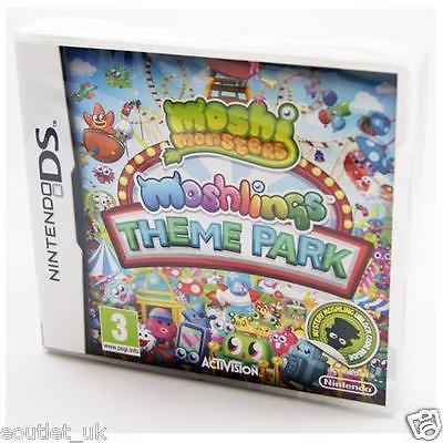 Moshi Monsters Moshlings Theme Park Kids Game Nintendo DS/DSi/XL NEW & SEALED