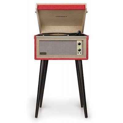 Crosley Bermuda Dansette Turntable Retro Vinyl Record Player - Red