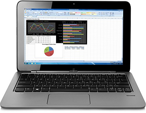 HP Elite X2 1011 (L5G44EA) 29,46 cm (11,6 Zoll) Convertible Business Notebook (Intel Core M-5Y71c, 8 GB RAM, 256 GB SSD, Full HD Bildschirm, Touchscreen, Windows 8.1 Pro 64) silber